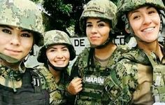 Female Marines, Female Soldier, Female Warriors, Mexican Army, Hero World, Military Women, Special Forces, Armed Forces, Real Women
