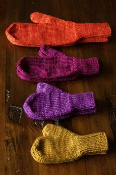 There is nothing like a nice pair of warm winter mittens . This quick and cozy knit is just the thing to stretch your skills and keep your hands toasty. First, you will need a pattern so download T…