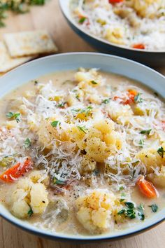 Cauliflower Chowder - a quick, easy, light, healthy and tasty chowder starring cauliflower as the main ingredient.