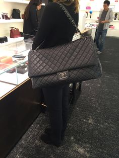 Xxl chanel flap bag spring summer 2016 airport collection