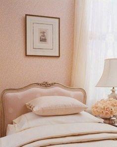 Pink comfortable bedroom - very girly!
