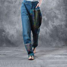Soft Prints Straight-Leg Jeans    #denim #jeans #pants #trousers #prints #fashion #ootd