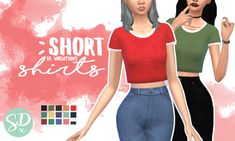 The Sims 4 mm cc crop top made by sondescent