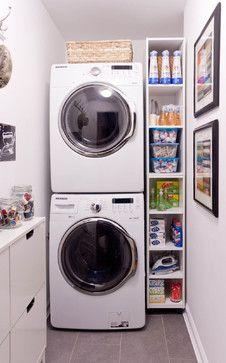 small laundry room? Stackem!