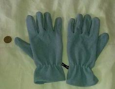 Handschuhe Fleece hellblau