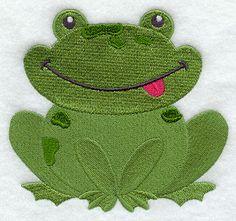Playful Frog design (H5262) from www.Emblibrary.com