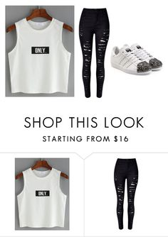 """Untitled #620"" by katelyn-style ❤ liked on Polyvore featuring WithChic and adidas Originals"