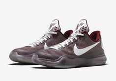 """ef5e6b5a59fa5c NIKE KOBE 10 GS """"LOWER MERION"""" COLOR  TEAM RED WOLF GREY-"""