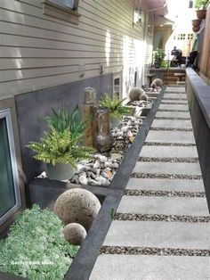 Gorgeous Side Yard Garden Design Ideas For Your Beautiful Home Side Inspiration 49 Seiten Yards, Decks, Small Backyard Landscaping, Landscaping Ideas, Mulch Landscaping, Arizona Landscaping, Backyard Patio, Backyard Designs, Paver Patio Designs