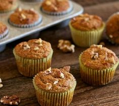 Muffins με μπανάνα και καρύδια  Infokids.gr