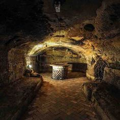 The Sandstone caves below the Malt Cross music hall in Nottingham.  The caves date from around 1600 and can be visited as part of the regular heritage tour.