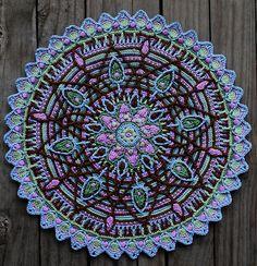(via Ravelry: Crochet Overlay Mandala No. 5, Pattern, PDF...