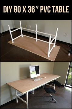 """Do you know what you can do with PVC? Make an 80 x 36"""" table!"""