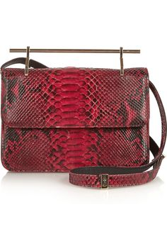 Crimson python ups the wow factor of this stunning statement bag.