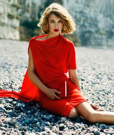 The SnC September 2012 Editorial Stars Lady in Red Adeline Jouan