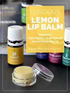 Luscious Lemon Lip Balm | healthylivinghowto.com