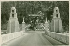I thought I'd show you some old pictures from Riverside, California, where I'm from. The spanish building with Riverside on it, is wher. Riverside California, California History, Vintage California, Southern California, Vintage Pictures, Old Pictures, Roadside Attractions, New York Public Library, Historical Pictures