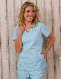 471b9787f21 koi Ashley Tunic Bestseller ! - Shorter Length suits Petite Ladies, Stripe  trim in co