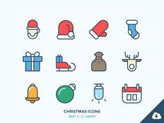 Christmas Icons Freebie 2/3 - Santa