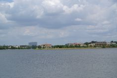 View of Lake Woodlands from South Shore Park #dempseyproperties #thewoodlands www.DemsepyProperties.com