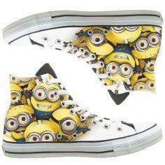 Minion Converse Shoes, chaussures, chaussures personnalisées par natalshoes peintes
