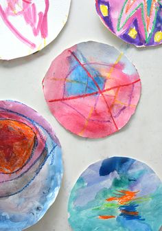 Make Simple Circle Art: Easy Art Project for Littles | Contributed by Meri Cherry