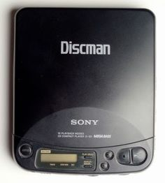 (Portable, double A battery operated) Discman - totally had one of these! It was the 80's (or 90's?) version of the I-Pod! lol. And of course WAY BETTER than a portable cassette player.