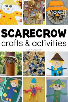 Fall crafts and activities for kids that are scarecrow-themed! There are so many fun ways to make a scarecrow. You're sure to find the perfect fit for your preschool or kindergarten classroom, or homeschool! Easy Arts And Crafts, Fall Crafts For Kids, Fun Crafts, Make A Scarecrow, Scarecrow Crafts, Fall Preschool Activities, Early Learning Activities, Enchanted Learning, Farm Theme