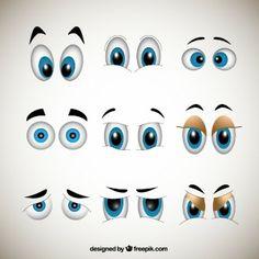 Dibujos animados ojos