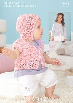 Knitting Pattern Baby cardigan and hat  sirdar 4463  size 0-7yrs  new by Bobbinswool on Etsy
