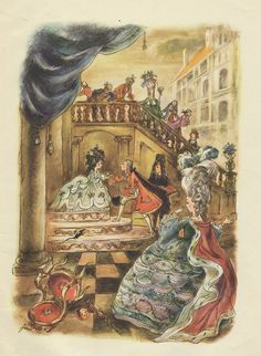 """The Nutcracker and the Mouse King"""" 1951 - illustration by J. Famous Fairies, Book Illustrations, Illustration Art, Fairytale Cottage, Cicely Mary Barker, Whimsical Art, Middle Ages, Faeries, Art Forms"""