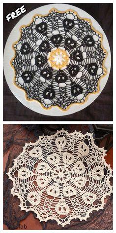 Crochet Skull Patterns, Crochet Dragon Pattern, Free Crochet Doily Patterns, Halloween Crochet Patterns, Dishcloth Knitting Patterns, Crochet Dishcloths, Crochet Doilies, Crochet Fall, Holiday Crochet