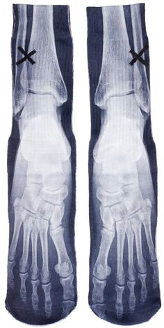 ODD SOX XRAY SOCKS Have a spooky good time with these X-Ray Socks from Odd Sox!! These printed tube socks are made of a poly blend material and feature a ribbed elastic cuff, full graphic print, and ribbed heel for a tight and secure fit. $14.00 #oddsox #socks #xray