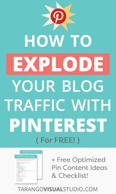 Learn how to take advantage of the Pinterest algorithm and get an explosion of traffic to your blog with these amazing Pinterest tips! Best of all, it's absolutely free! #Pinterest #Blogging Pinterest Advertising, Pinterest Marketing, Social Media Trends, Make Money Blogging, Blog Tips, Successful Business, Business Tips, Online Business, Influencer Marketing