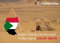 #turkeyevisa Visa fees for #Sudan £58.99/$86.99 includes evisa-turkey-tr.org's service charge of £28 + #government fees