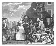 William Hogarth, The Rake's Progress, 1734. Plate 4: Arrested for Debt as Going to Court, etching.