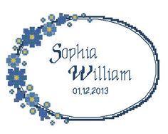 Digital item cross stitch wedding personalized by LaMariaCha, $9.00