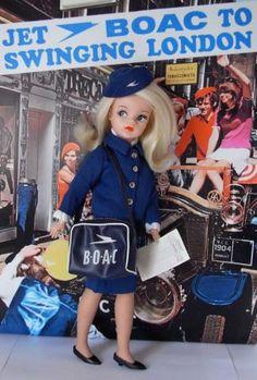Vintage Air Hostess Dolls — The World of Kitsch Vintage Air, Vintage Dolls, Vintage Style, Museum Of Childhood, Childhood Memories, Hostess Outfits, Swinging London, Sindy Doll, Kids Tv