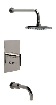 Modern pressure balance shower with tub spout and diverter
