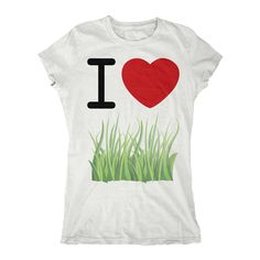 I Heart Grass Womens T-shirt