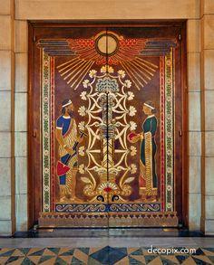 Leather Doors, Nebraska State Capitol - Lincoln, NB