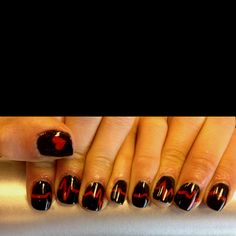 I like these, but personally my nails were short with clear or light polish..
