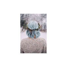 Pastel Blue Hair ❤ liked on Polyvore featuring accessories, hair accessories and blue hair accessories