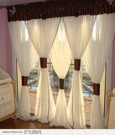 Quite Decorative But Not Practical If That S An Entry Or Exit Bay Window Curtains Living