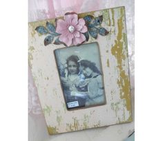 Shabby-Cottage Picture Frame