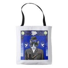 Son of Cat - Magritte Parody Tote Bag - accessories accessory gift idea stylish unique custom