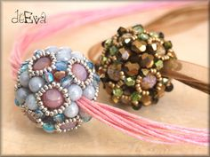 by Éva Dobos ~ I love beaded beads! They look beautiful and complicated but aren't very difficult to make and usually don't take a lot of beads!