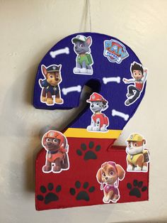 paw patrol number piñata. paw patrol . paw patrol themed. paw patrol birthday Party. by aldimyshop on Etsy https://www.etsy.com/listing/245835201/paw-patrol-number-pinata-paw-patrol-paw