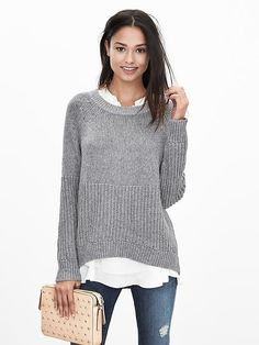 Love the sweater.  Would like it in a dark jewel tone or some rich color.