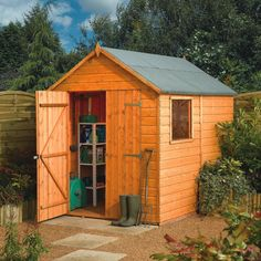 Rowlinson Modular Wooden Shed - 8ft x 6ft